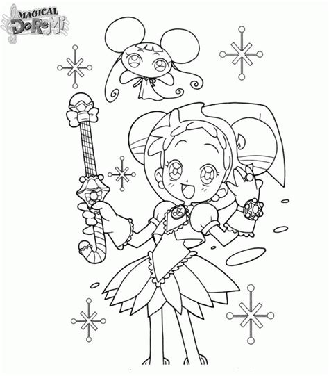 Magical Doremi Coloring Pages Magical Coloring Pages