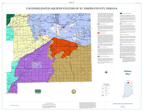 St Joseph County Indiana Records Dnr Unconsolidated And Bedrock Aquifer Systems Of St Joseph County Indiana 1987