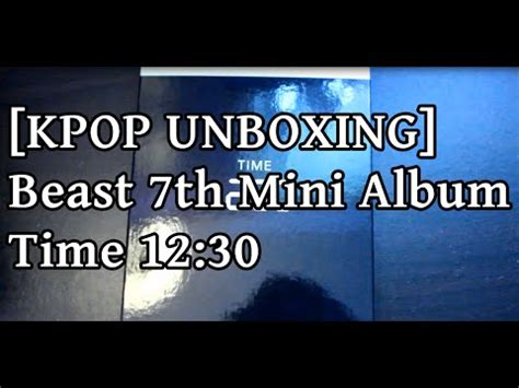 Beast 7th Mini Album Time kpop unboxing beast 7th mini album time 12 30