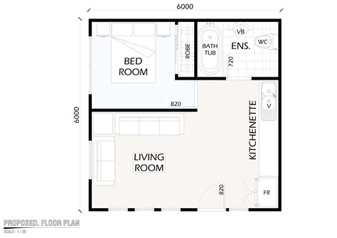 Flat Floor Plan by South Flat Plans Escortsea
