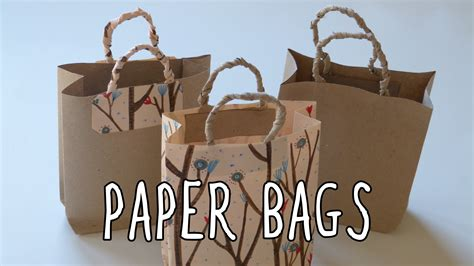 How To Make A Paper Bag Out Of Wrapping Paper - how to make a paper bag diy gift bags