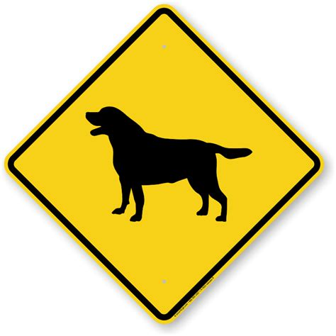 signs of in dogs black labrador symbol sign guard sign beware sign sku k 7633 labrador b