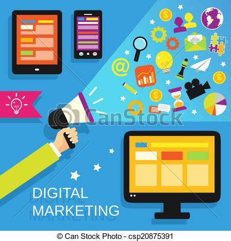 eps vectors of digital marketing set digital marketing