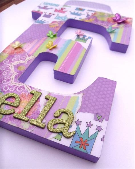 How To Decoupage Cardboard Letters - 315 best children s wooden wall letters images on
