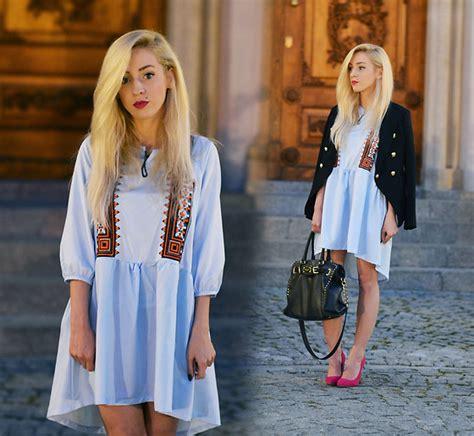 Dress Aneta aneta m dress blazer heels summer evening lookbook