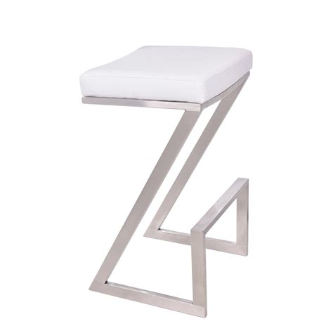 28 Inch Backless Bar Stools by Armen Living Atlantis 26 Inch Backless Bar Stool White