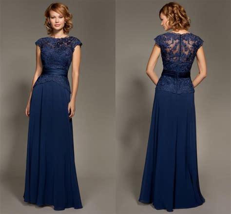 elegant lace bridesmaid dresses navy blue formal dresses