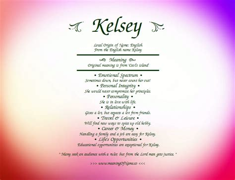 what is meaning of kelsey meaning of name