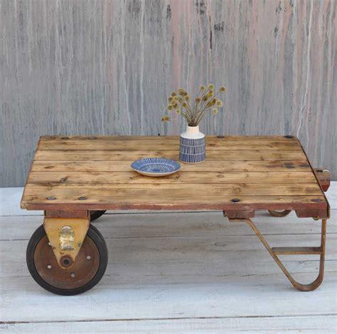 vintage wood cart coffee table vintage cart coffee table uk brokeasshome com