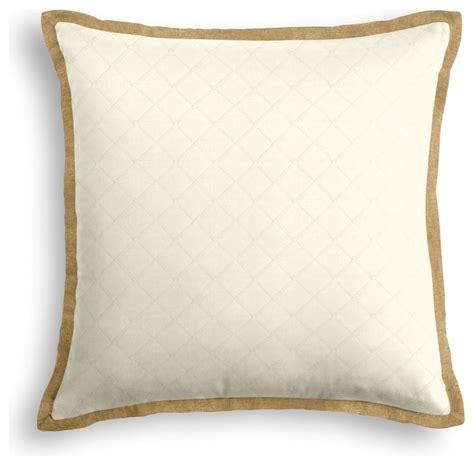 Contemporary Decorative Pillows Pintuck Tailored Pillow Contemporary