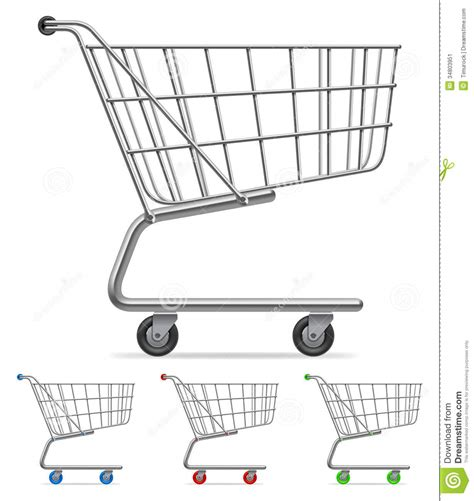 shopping trolley coloring pages