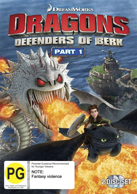 Dragons Defenders Of Berk dragons defenders of berk part 1 dvd on sale now at mighty ape australia