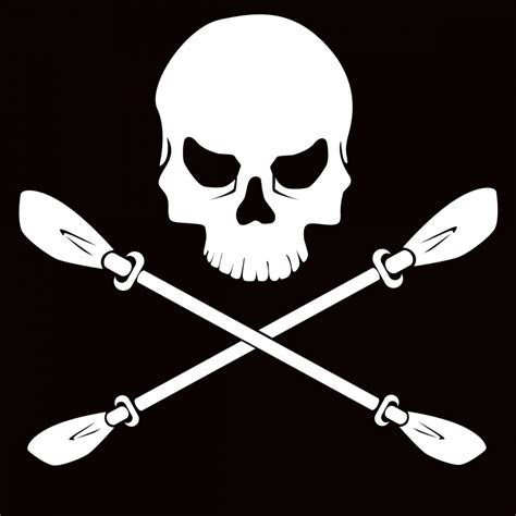 jolly roger boat decal jolly quot paddle quot rogers vinyl window decal