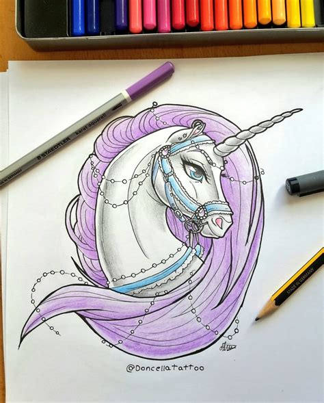 tattoo design lady unicorn by almairis on deviantart