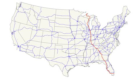 us interstate map east to west u s route 41 wikiwand