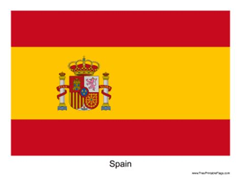 Flag Of Spain Printable Spain Flag