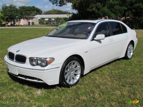2009 bmw 745li alpine white 2004 bmw 7 series 745li sedan exterior photo