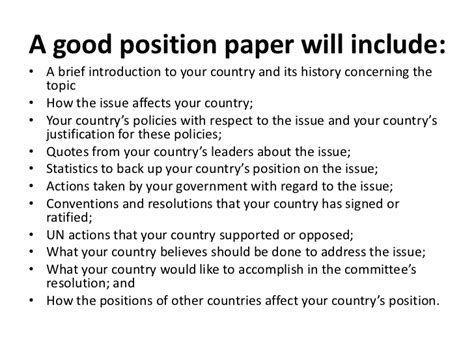 How To Make A Position Paper For Mun - position paper
