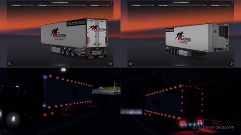 whychlo s ets2 mods new chereau trailer with lights