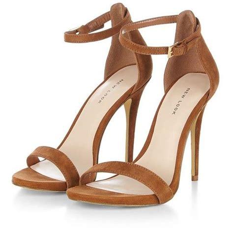 brown suede high heels brown suede ankle heels 55 liked on polyvore