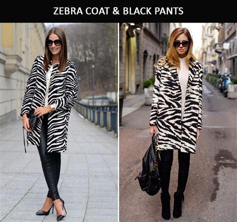 fall 2014 runway fashion trends zebra stripes slim fashion