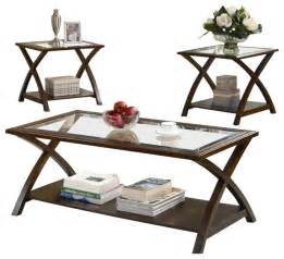 coaster 3 occasional table sets coffee and end table