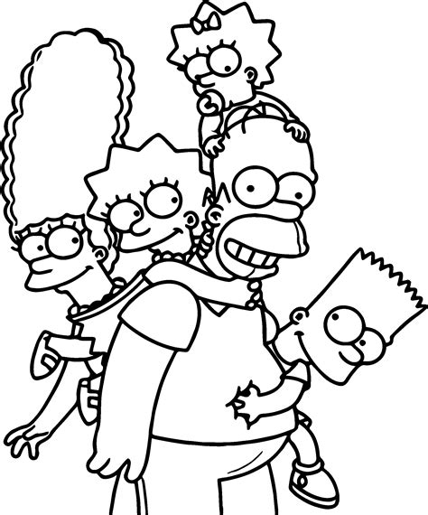 coloring pages of wallpaper the simpsons wallpaper full hd coloring page