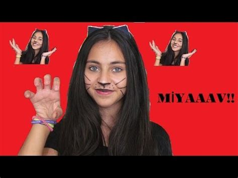 kedi kız makyajı (kombin+kedi tacı yapımı) youtube