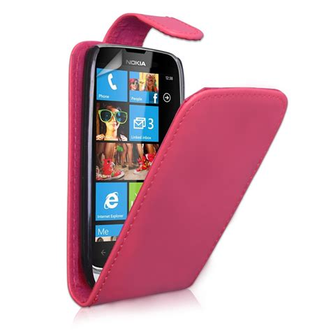 Nokia 2600 Casing Pink yousave accessories nokia lumia 610 leather effect flip pink