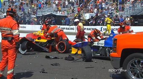 indianapolis car crash news crash marred the start of the indycar indianapolis grand prix autoevolution