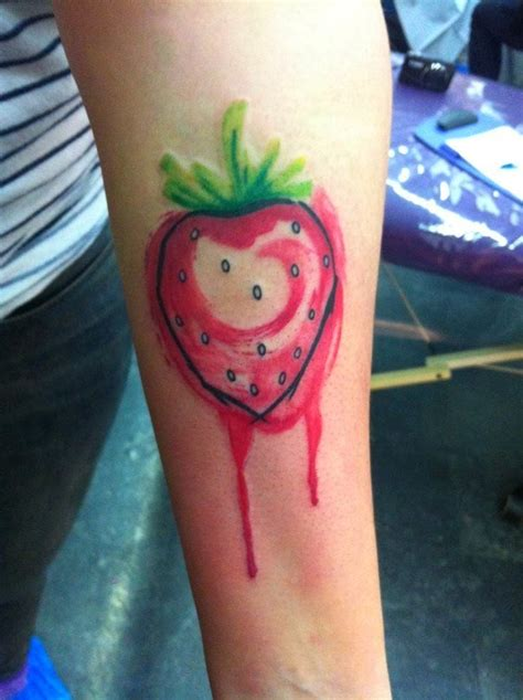 watercolor tattoo quebec strawberry tattoos designs for with