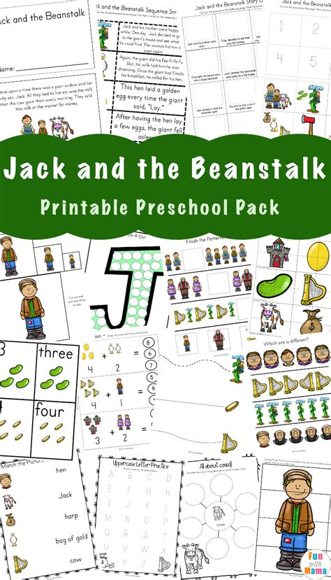 kindergarten activities jack and the beanstalk free jack and the beanstalk activities fun with mama