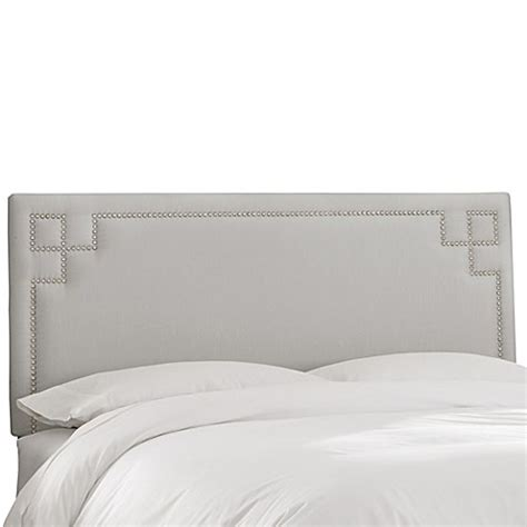 greek key headboard buy skyline furniture greek key full shantung headboard in