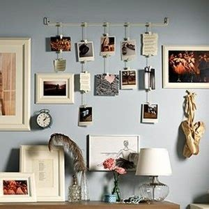 hanging pictures without nails cute way to hang pictures college stuff pinterest