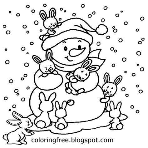 winter rabbit coloring page free coloring pages printable pictures to color kids