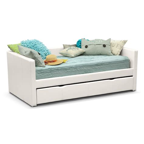 twin trundle beds carey white twin daybed with trundle value city furniture