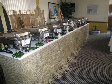 buffet setup for wedding wedding luau buffet table set
