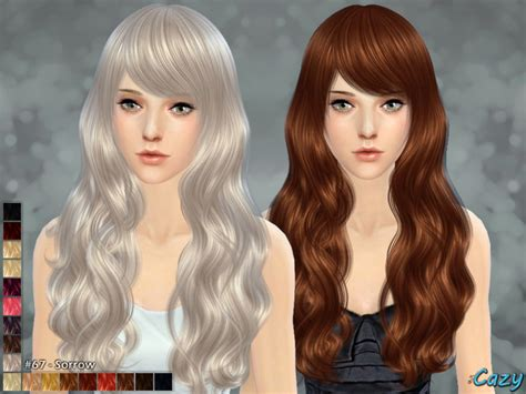 hairstyles download sims 4 cazy s sorrow hairstyle sims 4