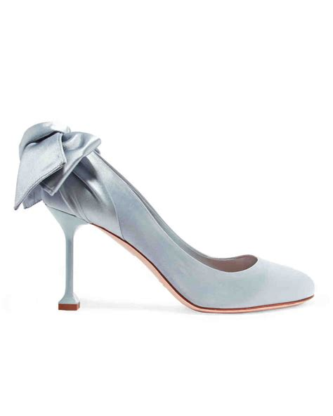 Blue Satin Wedding Shoes by Closed Toe Evening Shoes To Rock For Your Winter Wedding