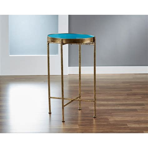 small pop up table innerspace luxury products small gild pop up blue tray