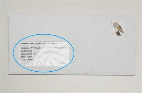 Beschriftung Brief Mit Fenster by Richtig Adressieren Und Beschriften F 252 R Die