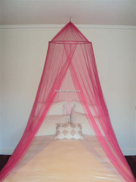 Pink Canopy Bed Pink White Or King Size Mosquito Net Bed Canopy Gorgeous New Ebay