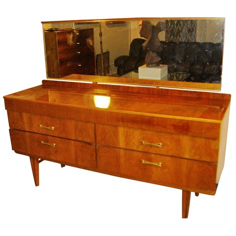1950s american 6 drawer wood dresser with mirror price