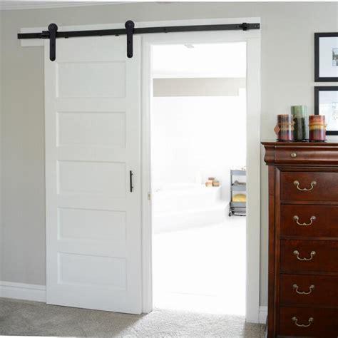 Single Door 6ft 16ft Line Style Shaped Roller American Barn Door Style Hardware For Sliding Doors