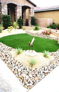 Desert Landscape Yard Pictures Simple Front Yard Desert Landscaping With Gravels And