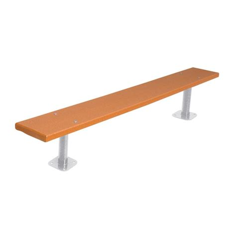bench mount ultra play 6 ft cedar commercial park recycled plastic