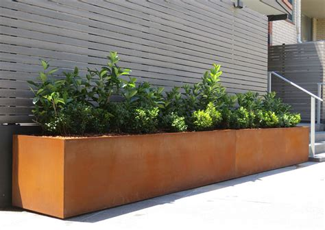 Planter Troughs by Design Systems Design Systems Laser Cut Metal Screens Planter Troughs