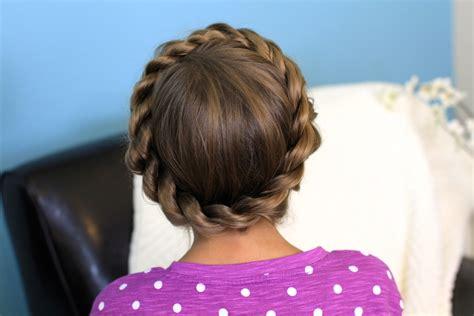 cute girl hairstyles rope braid crown rope twist braid updo hairstyles cute girls