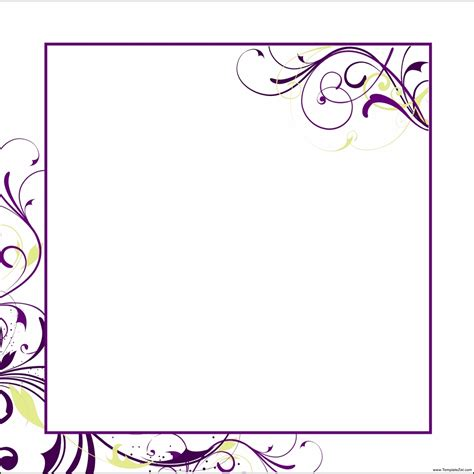 blank invitation templates for microsoft word templatezet