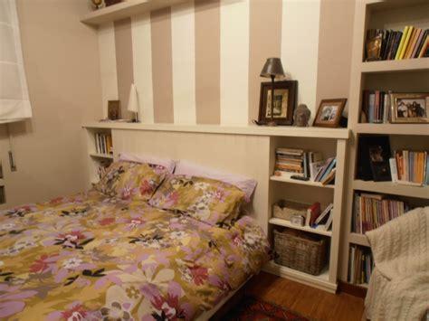 testiera letto libreria grigliato testata letto con doppia libreria su misura